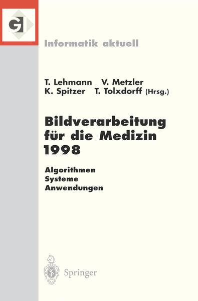 Bildverarbeitung für die Medizin 1998 - Coverbild