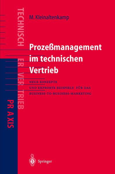 Prozeßmanagement im Technischen Vertrieb - Coverbild