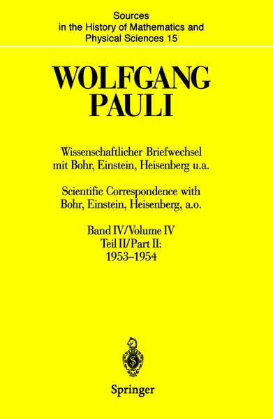 Wissenschaftlicher Briefwechsel mit Bohr, Einstein, Heisenberg u.a. / Scientific Correspondence with Bohr, Einstein, Heisenberg a.o. - Coverbild