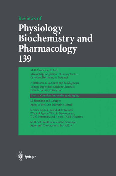Reviews of Physiology, Biochemistry and Pharmacology 139 - Coverbild