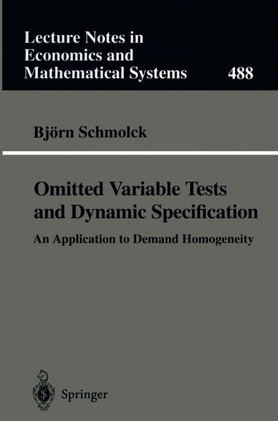 Omitted Variable Tests and Dynamic Specification - Coverbild