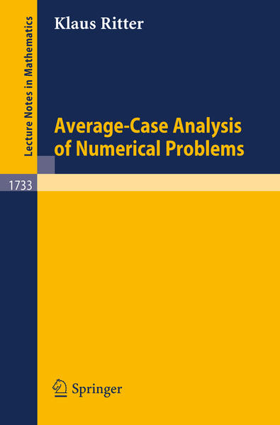 Average-Case Analysis of Numerical Problems - Coverbild