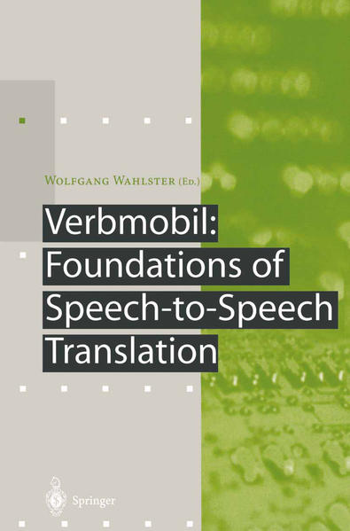 Verbmobil: Foundations of Speech-to-Speech Translation - Coverbild