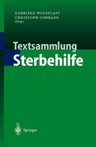 Textsammlung Sterbehilfe - Coverbild