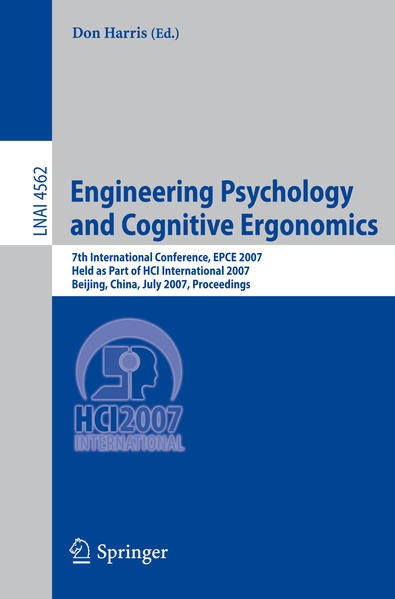 Engineering Psychology and Cognitive Ergonomics - Coverbild