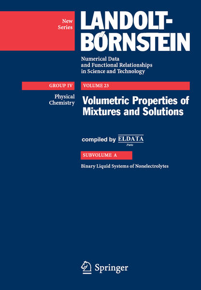 Volumetric Properties of Mixtures and Solutions - Coverbild