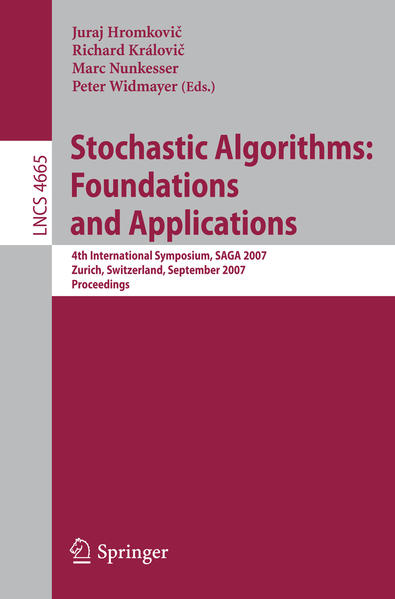 Stochastic Algorithms: Foundations and Applications - Coverbild
