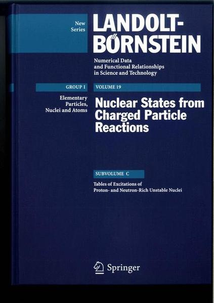 Tables of Excitations of Proton-and Neutron-Rich Unstable Nuclei - Coverbild