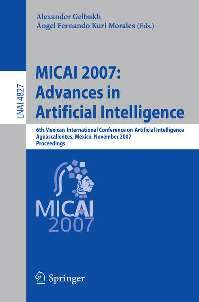 MICAI 2007: Advances in Artificial Intelligence - Coverbild