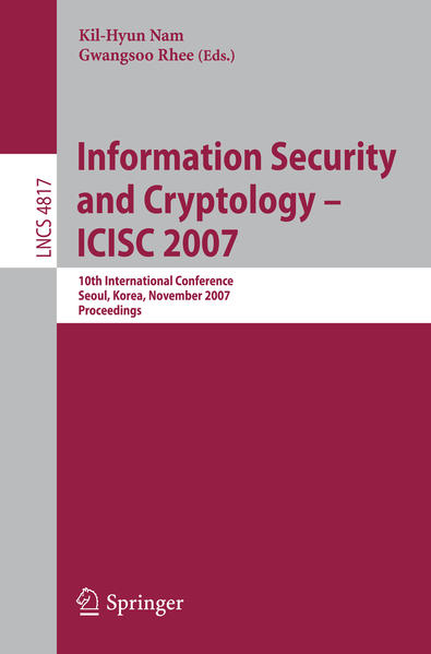 Information Security and Cryptology - ICISC 2007 - Coverbild