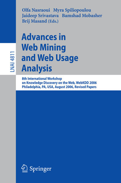 Advances in Web Mining and Web Usage Analysis - Coverbild