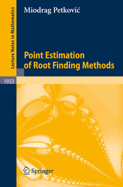 Point Estimation of Root Finding Methods - Coverbild