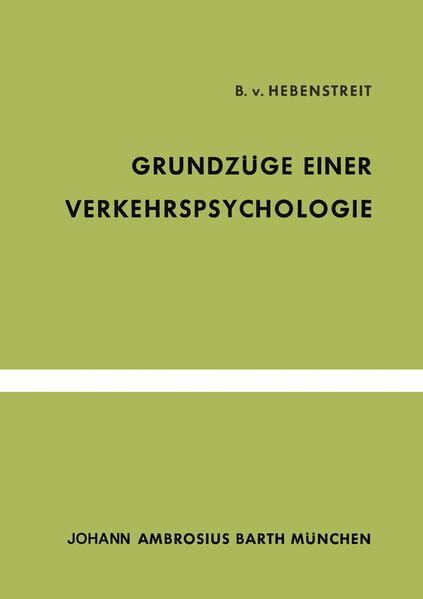Grundzüge Einer Verkehrspsychologie - Coverbild