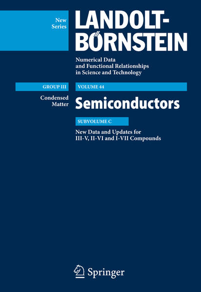 New Data and Updates for I-VII, III-V and II-VI Compounds - Coverbild