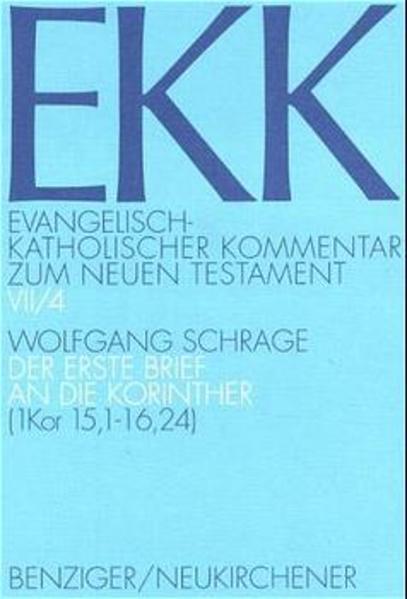 Evangelisch-Katholischer Kommentar zum Neuen Testament (EKK) / Der erste Brief an die Korinther - Coverbild