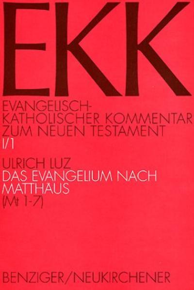 Evangelisch-Katholischer Kommentar zum Neuen Testament (EKK) / Das Evangelium nach Matthäus - Coverbild