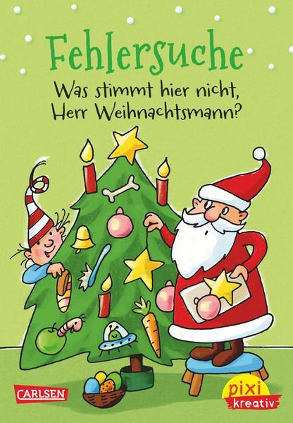 Pixi kreativ Nr. 66: VE 5 Fehlersuche: Was stimmt hier nicht, Herr Weihnachtsmann? - Coverbild