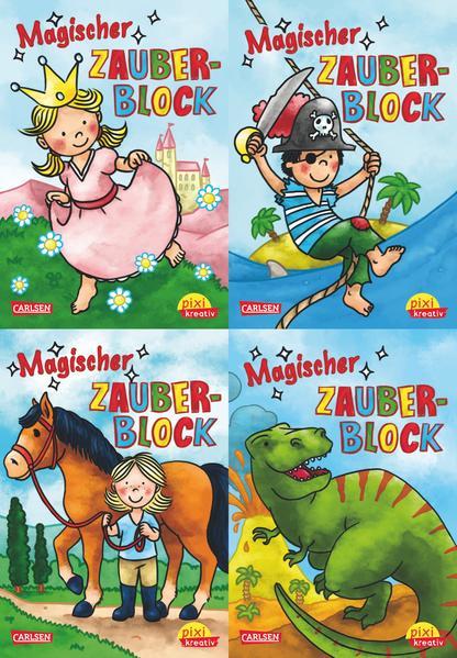 Pixi kreativ Serie Nr. 3: 4er Bundle: Magische Zauberblöcke - Coverbild