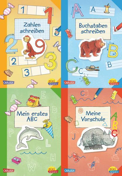 Pixi kreativ Serie Nr. 8: 4er Bundle: Fit für den Schulanfang - Coverbild