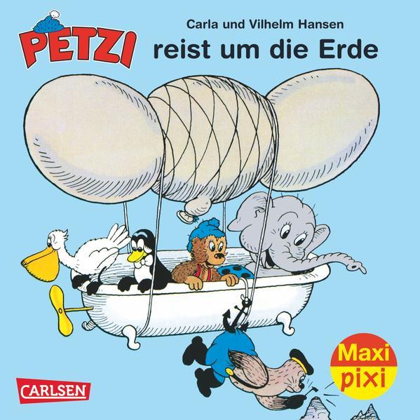 Maxi-Pixi Nr. 136: VE 5 Petzi reist um die Erde - Coverbild