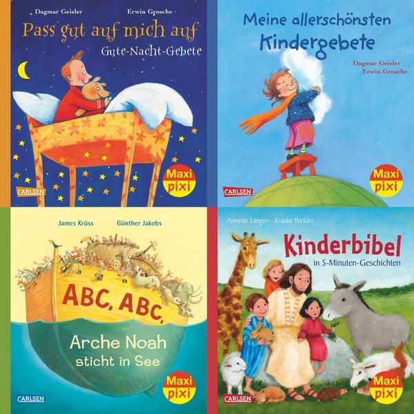 Maxi-Pixi-Serie Nr. 59: Die schönsten Bibelgeschichten und Gebete für Kinder - Coverbild