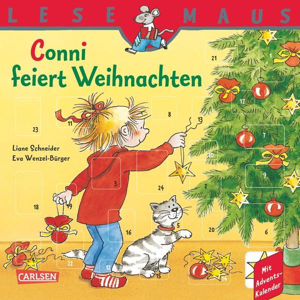 LESEMAUS, Band 58: Conni feiert Weihnachten - Coverbild
