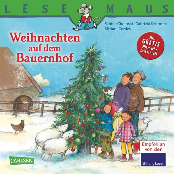 LESEMAUS, Band 78: Weihnachten auf dem Bauernhof - Coverbild