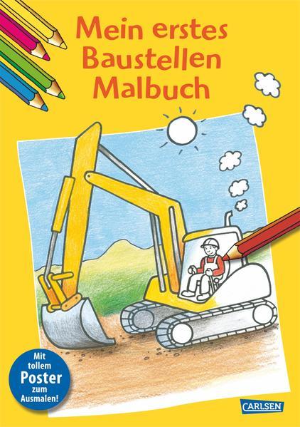 Mein erstes Baustellen-Malbuch - Coverbild
