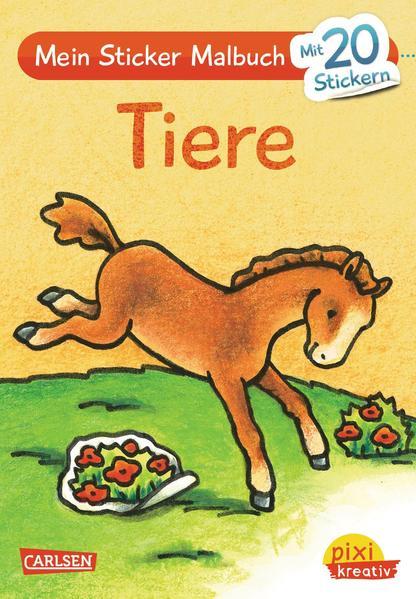 Pixi kreativ Nr. 17: Mein Sticker-Malbuch: Tiere - Coverbild