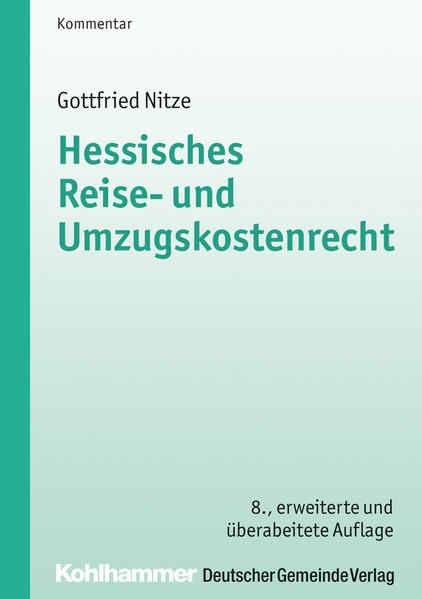 Hessisches Reise- und Umzugskostenrecht - Coverbild