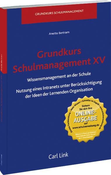 Grundkurs Schulmanagement XV, Wissensmanagement - Coverbild