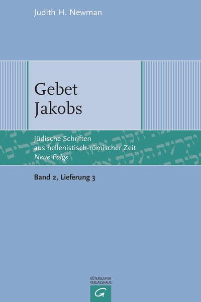 Jüdische Schriften aus hellenistisch-römischer Zeit - Neue Folge... / Gebet Jakobs - Coverbild