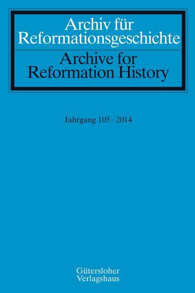 Archiv für Reformationsgeschichte - Aufsatzband - Coverbild