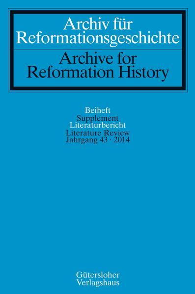 Archiv für Reformationsgeschichte - Literaturbericht - Coverbild