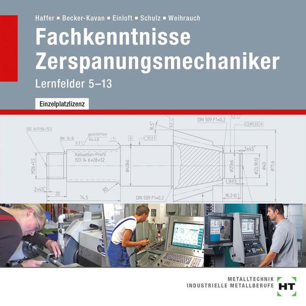 CD-ROM - Fachkenntnisse Zerspanungsmechaniker - Coverbild
