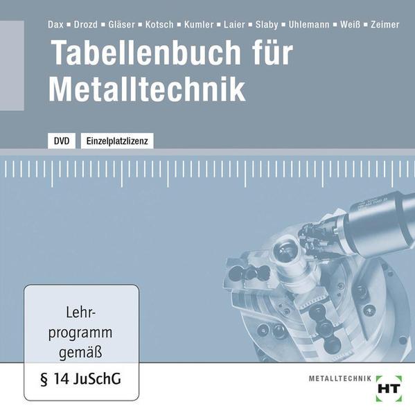 DVD - Tabellenbuch für Metalltechnik - Coverbild
