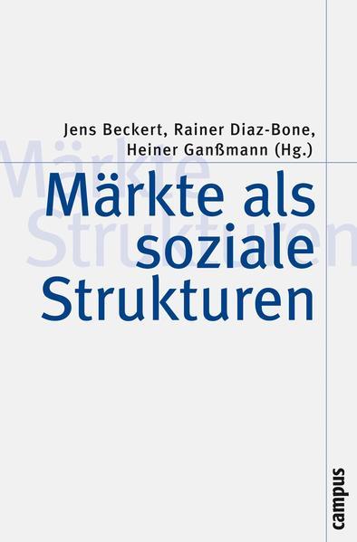 Märkte als soziale Strukturen - Coverbild