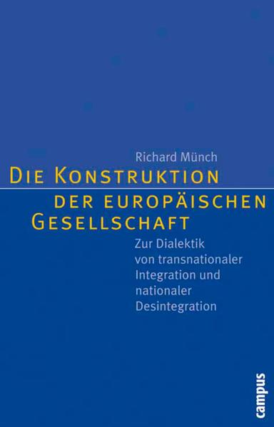 Die Konstruktion der europäischen Gesellschaft - Coverbild