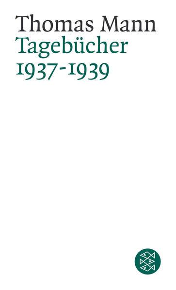 Tagebücher 1937-1939 - Coverbild