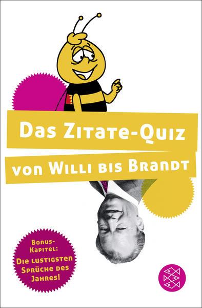 Das Zitate-Quiz von Willi bis Brandt - Coverbild