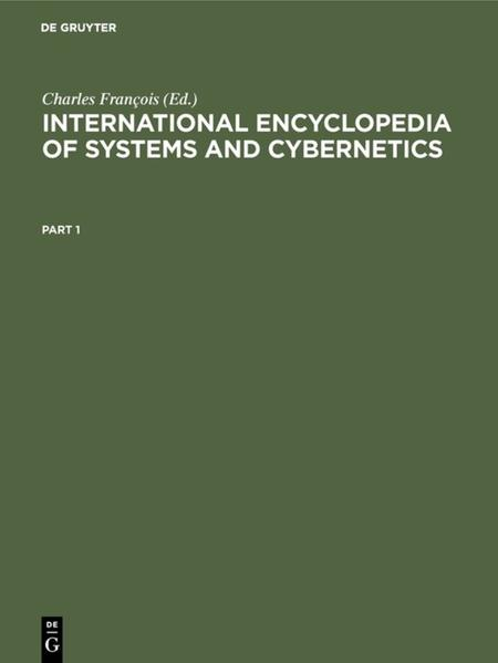 International Encyclopedia of Systems and Cybernetics - Coverbild