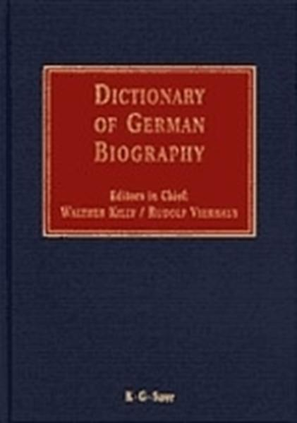 Dictionary of German biography / Dictionary of German biography. Complete - Coverbild