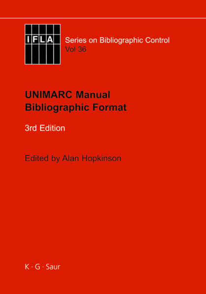 UNIMARC Manual - Coverbild