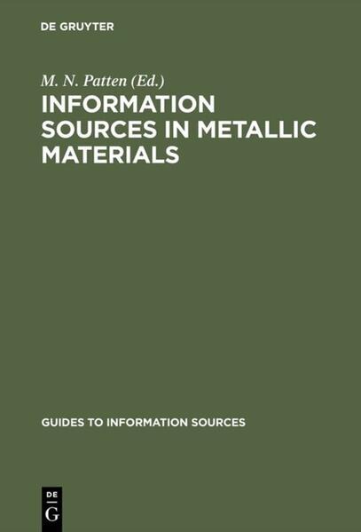 Information Sources in Metallic Materials - Coverbild