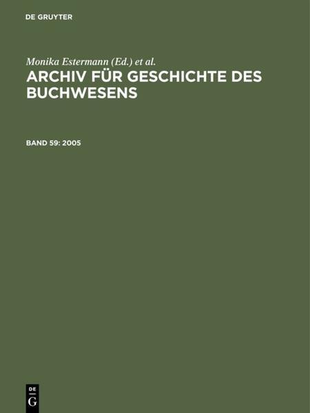 Archiv für Geschichte des Buchwesens / 2005 - Coverbild