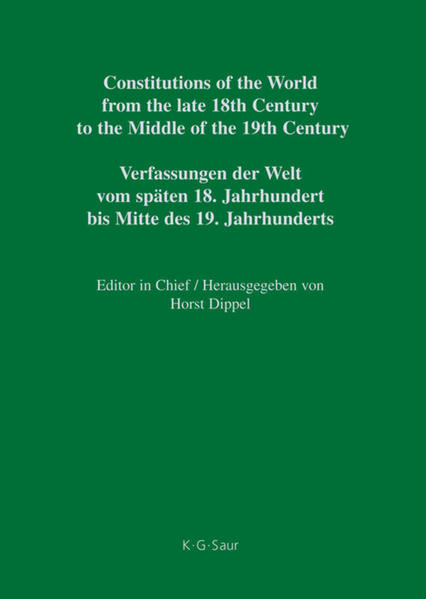 Constitutions of the World from the late 18th Century to the Middle... / Frankfurt – Hesse-Darmstadt / Frankfurt - Hessen-Darmstadt - Coverbild