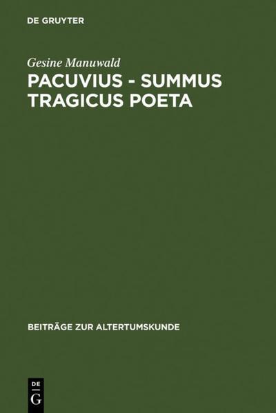 Pacuvius - summus tragicus poeta - Coverbild