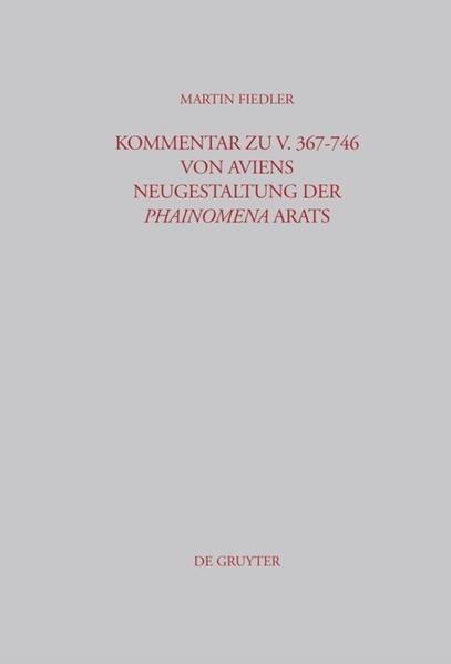 Kommentar zu V. 367-746 von Aviens Neugestaltung der Phainomena Arats - Coverbild