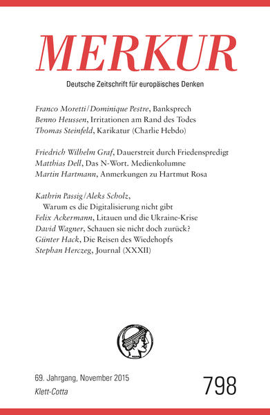 MERKUR Deutsche Zeitschrift für europäisches Denken - Coverbild