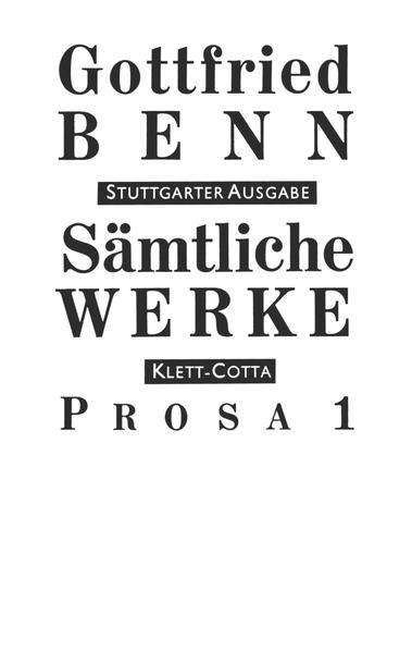 Sämtliche Werke - Stuttgarter Ausgabe / Prosa 1 Epub Kostenloser Download